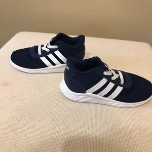 Little boy Adidas shoes